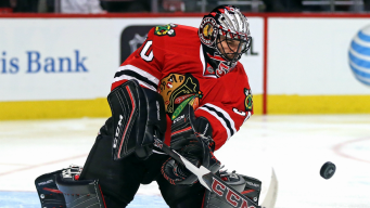 Blackhawks Call Up Lars Johansson to Replace Corey Crawford
