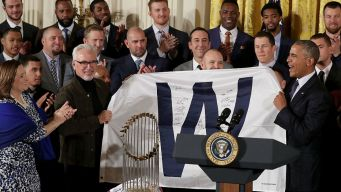 Photos: Cubs Present Gifts to President Barack Obama