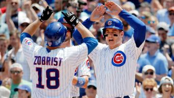 Zobrist, Russell Power Cubs Past Rockies Sunday