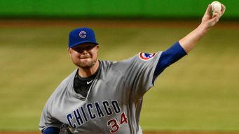 Jon Lester Settles In, Leads Cubs Over Marlins