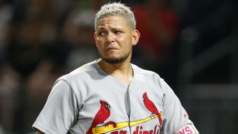 Molina Hit in Groin by Foul Ball, Suffers Scary Injury