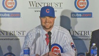 Lester Talks World Series in Cubs Introduction
