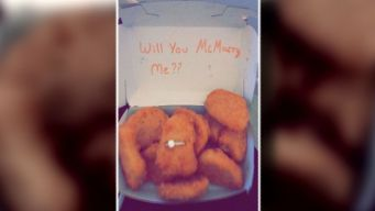 For Proposal, Man Tucks Engagement Ring Into Chicken Nugget