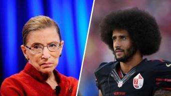 Ginsburg Walks Back Comments on NFL Anthem Protests