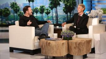 'Ellen': Gervais Talks Hosting the Golden Globes