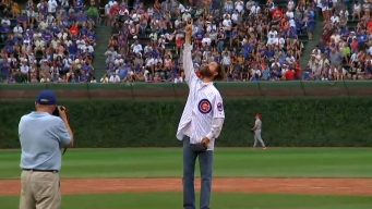 Alligator Catcher Throws Out First Pitch at Cubs Game