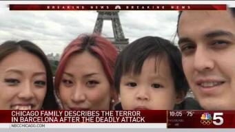 Video Shows Chicago Family Take Refuge After Deadly Barcelona Van Attack
