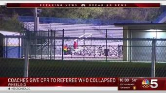 Referee Collapses at Wheeling High School Football Game