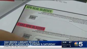 Oak Brook Library Recalls Eclipse Glasses