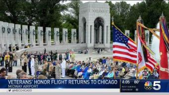 Honor Flight Returns to Chicago