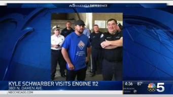 Schwarber Surprises Firefighters With Donation