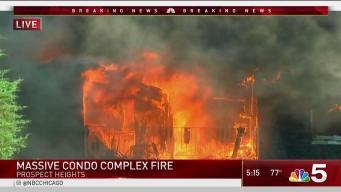 Firefighters Battle Apartment Complex Blaze