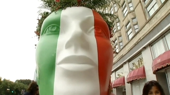 Giant Head Sculptures Pop up on Michigan Avenue