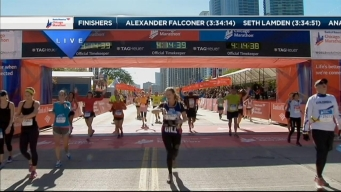 2014 Chicago Marathon Finish Line 37