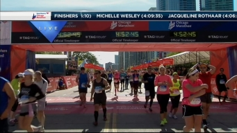 2014 Chicago Marathon Finish Line 52