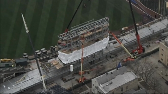 Installation Begins for Wrigley Field Jumbotron