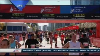 2015 Chicago Marathon Finish Line Cam 25