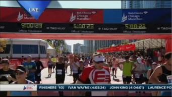 2015 Chicago Marathon Finish Line Cam 26