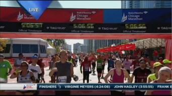 2015 Chicago Marathon Finish Line Cam 28