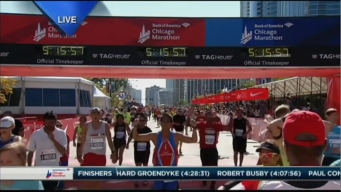 2015 Chicago Marathon Finish Line Cam 31