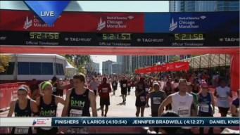 2015 Chicago Marathon Finish Line Cam 33