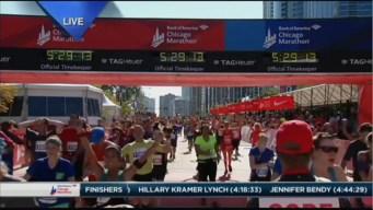 2015 Chicago Marathon Finish Line Cam 36