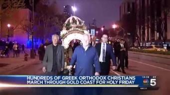 Hundreds of Greek Orthodox Christians Gather for Good Friday