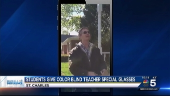Students Purchase Glasses for Color Blind Art Teacher