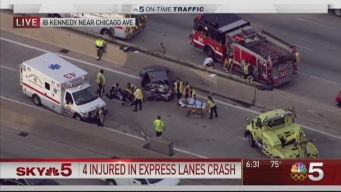 4 Injured in Multi-Vehicle Crash on Kennedy Expressway