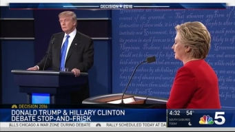 Trump, Clinton Clash Over Chicago Gun Violence in First Debate