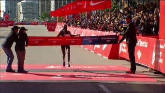 Finish Line Interview: Florence Kiplagat Defends Title
