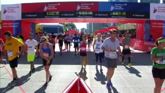 Chicago Marathon Finish Line 25: 5:01:28