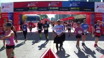 Chicago Marathon Finish Line 29: 5:17:50