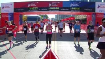 Chicago Marathon Finish Line 30: 5:21:08