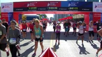 Chicago Marathon Finish Line 33: 5:32:19