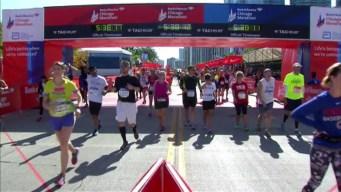 Chicago Marathon Finish Line 34: 5:36:01