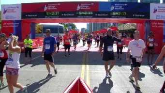 Chicago Marathon Finish Line 35: 5:40:22