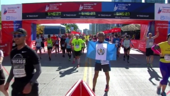 Chicago Marathon Finish Line 36: 5:44:11