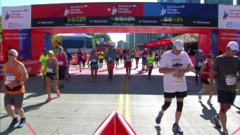 Chicago Marathon Finish Line 40: 5:59:37