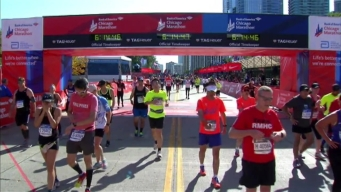 Chicago Marathon Finish Line 44: 6:13:16