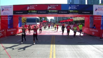 Chicago Marathon Finish Line 45: 6:16:16