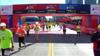 Chicago Marathon Finish Line 47: 6:21:50