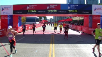 Chicago Marathon Finish Line 49: 5:28:06