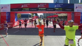 Chicago Marathon Finish Line 55: 6:52:42