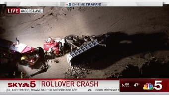 Crews Pull Driver from Semi Rollover at McCook Quarry