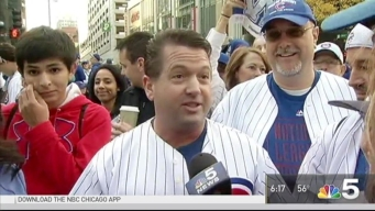 Fans Packed in Along Cubs Parade Route
