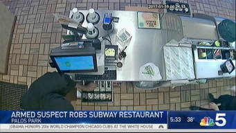 Surveillance Video Shows Armed Robbery of Palos Park Subway Store