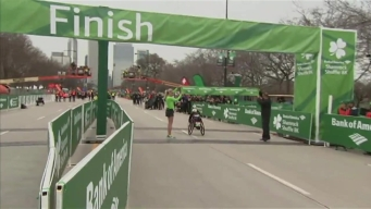 McGrory Crosses Finish Line in Wheelchair Race at 2017 Shamrock Shuffle