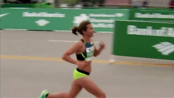 Kim Conley Crosses Finish Line at 2017 Shamrock Shuffle