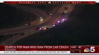 Illinois State Police Search For Man Who Fled From Crash in Rosemont